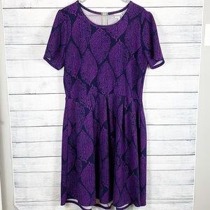 Lularoe Leaf Print Amelia Dress 3X